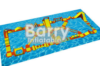 Water Games Inflatable Floating Obstacle Course With 0.9mm Plato PVC Tarpaulin