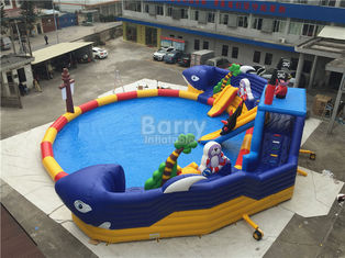 Summer Sharp Inflatable Water Park , Crocodile Island Inflatable Water Slide