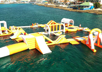 Funny Forest Inflatable Water Park , Inflatable Water Sports Challenge